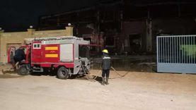 السيطرة على حريق في ثلاجة خضار بالسادات