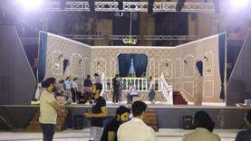 خالد جلال يتابع اللمسات الأخيرة لافتتاح مسرح ساحة الهناجر