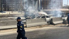 عاجل.. مصدر أمني: ارتفاع خسائر حادث تصادم الدائري لـ7 سيارات محترقة