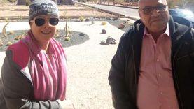"""الفنانة حنان شوقي في جولة سياحية داخل استراحة """"السادات"""" بكاترين"""