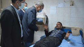 خروج 30 مصاباً بحادث قطار طوخ من مستشفيات جامعة بنها