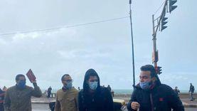 أمطار متوسطة تجتاح الإسكندرية بنوه السلوم.. «صور»