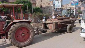 حملات نظافة وإزالة تراكمات القمامة بشوارع الحامول