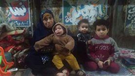 «جدة» وأطفالها الثلاثة فوق كوبري المرج: بندفي بعض بحضننا