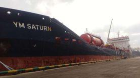 شحن 10 آلاف طن صودا كاوية وتداول 24 سفينة بموانئ بورسعيد