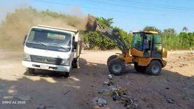 حملات للنظافة ورفع المخلفات بمدن القليوبية