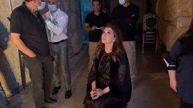 آخر ظهور لـ ماجدة الرومي في الكواليس قبل سقوطها على المسرح «فيديو»