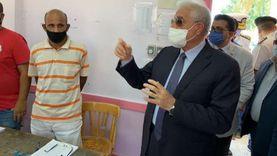 محافظ جنوب سيناء يتفقد اللجان الانتخابية