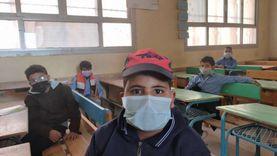 الكمامة للجميع في امتحانات الابتدائي بشمال سيناء (صور)