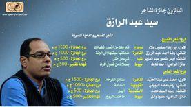 """تكريم الفائزين بجوائز """"الشاعر سيد عبدالرازق"""" في حفل بقصر ثقافة أسيوط"""