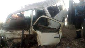 إصابة 6 أشخاص في حادث تصادم سيارتين بالفيوم