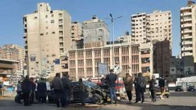اصطدام قطار أبو قير بسيارة ملاكي بمزلقان سيدي بشر بالإسكندرية