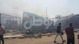 شهود عيان لحريق حلوان: بدأ بصندوق زبالة.. وضيق الممرات ساهم في تفحم السوق