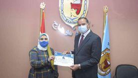 جامعة سوهاج تكرم طلابهاالفائزين في الدورة الرياضية الإلكترونية