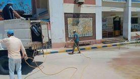 تعقيم اللجان الانتخابية بمدينة رأس البر استعدادا لمجلس الشيوخ