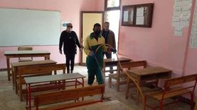 تعقيم مدارس جنوب سيناء استعدادا لامتحانات الفصل الدراسي الأول