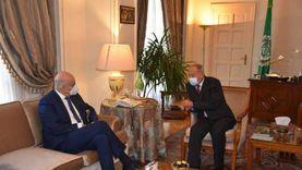 أبو الغيط يناقش مع وزير خارجية اليونان آخر التطورات في ليبيا