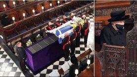 «ديلي ميل»: الملكة إليزابيث تبكي في جنازة فيليب وحفيداها يبتسمان «صور»