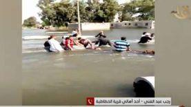 """أهالي """"الخطاطبة"""" يستغيثون بمحافظ المنوفية بعد ارتفاع منسوب النيل"""