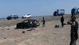 مصرع شخص وإصابة 3 آخرين في انقلاب سيارة برأس غارب