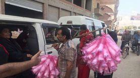 توزيع حلوى على الناخبين أمام لجان الغربية