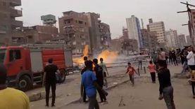 السيطرة على حريق محدود في مخزن قطع غيار بجوار مستشفى الرمد بروض الفرج