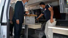 محافظة القليوبية تتسلم سيارتين لتقديم الخدمات الإلكترونية للمواطنين