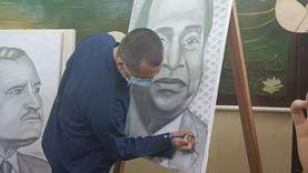 حكاية «محمد».. نزيل يبدع في رسم الرؤساء داخل سجن الفيوم