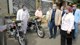 محافظ بني سويف يسلم30دراجة نارية مجهزة لذوي الإعاقة