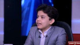 الطفل آدم رمضان: عايز أبقى قائد زي الرئيس السيسي