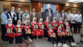 «الهجان» يكرم منتخب القليوبية لكرة السلة للصم وضعاف السمع بنات