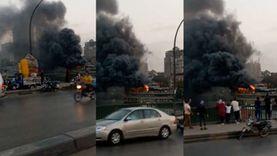 تفاصيل حريق مركب بالقرب من كوبري الجامعة.. النيران سببت خسائر فادحة