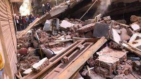 الصور الأولى لانهيار منزل سكني مكون من 4 طوابق بالغربية