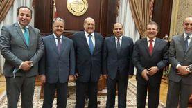 """رئيس """"الشيوخ"""" يستقبل وفد الوحدة الاقتصادية العربية"""