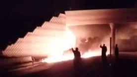 تفحم سائق في اشتعال سيارة مواد بترولية بصحراوي بني سويف
