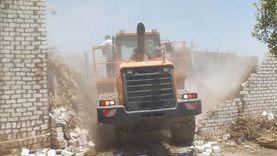 إزالة63تعدياعلى الأراضي الزراعية وأملاك الدولة ببني سويف