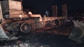 مصرع 3 أشخاص في حادث تصادم سيارتي نقل بجنوب سيناء