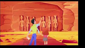 """الطفل مرشد لمنطقته.. منفذو حملة """"سياحة الكارتون"""": هيحفظوا آثار بلدهم"""
