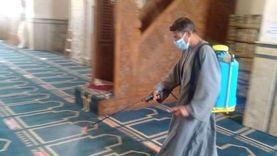 أوقاف جنوب سيناء تشن حملات لتعقيم المساجد استعدادا لصلاة العيد