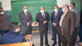محافظ المنيا يتفقد لجان الاختبارات التجريبية للثانوية العامة