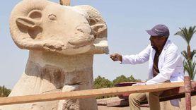 «الآثار»: الانتهاء من ترميم تماثيل طريق الكباش قبل احتفالية الافتتاح