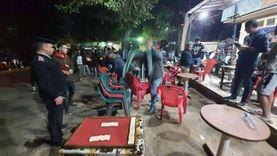 رفع 1244 حالة إشغال للمقاهي والمطاعم والمحال في الجيزة