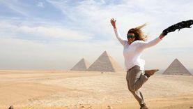 150 إعلاميا أجنبيا يزورون أهرامات الجيزة ويشيدون بالحضارة المصرية «صور»