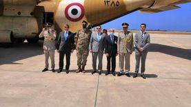 وصول الطائرة الثانية من الجسر الجوي الإغاثي المصري إلى بيروت
