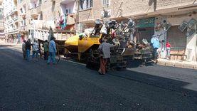 استمرار أعمال رصف وتأهيل شوارع ساحل سليم والقوصية في أسيوط