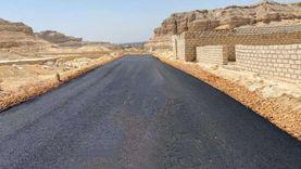 الانتهاء من رصف طريق يربط الصحراوي الشرقي بدير جبل الطير بالمنيا