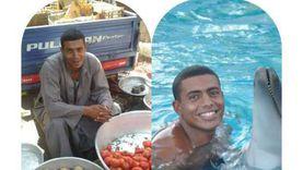 كابتن صالح من بائع خضار لأشهر مدرب سباحة في الأقصر
