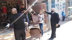 حملات لإزالة الإشغالات من شوارع مدن القليوبية