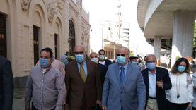 محافظ القاهرة يتفقد محيط متحف المركبات الملكية ببولاق أبو العلا
