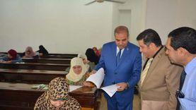 """رئيس جامعة الأزهر يتفقد لجان الامتحانات بـ""""دراسات بنات الإسكندرية"""""""